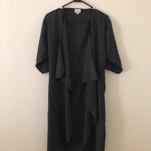 LuLaRoe - Black & White Polka Dots Shirley Kimono